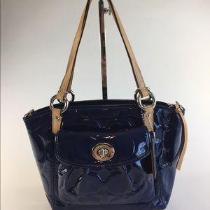 Coach Blue Patent Leather Small Handbag